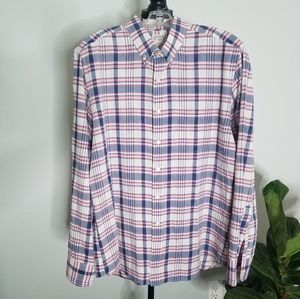 J.Crew Summer Plaid Shirt Large